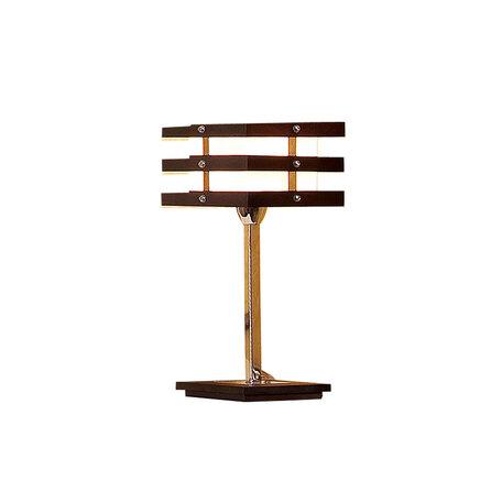 Настольная лампа Citilux Киото CL133811, 1xE14x60W, венге, хром, белый, дерево, металл, стекло