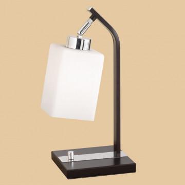 Настольная лампа Citilux Маркус CL123811, 1xE27x75W, венге, белый, металл, стекло - миниатюра 3