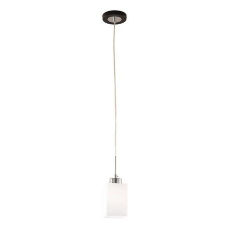 Подвесной светильник Citilux Маркус CL123111, 1xE27x75W, венге, белый, металл, стекло