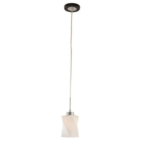 Подвесной светильник Citilux Берта CL126111, 1xE27x75W, венге, хром, белый, металл, стекло