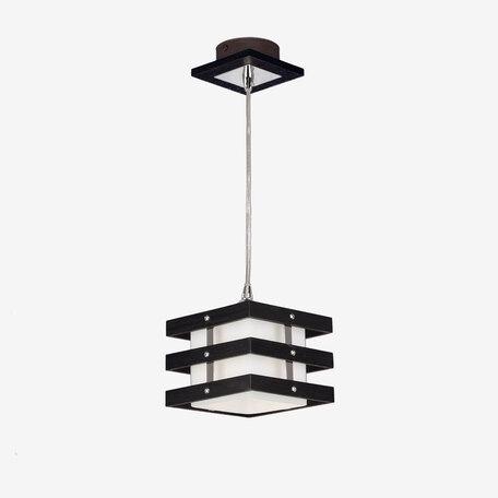 Подвесной светильник Citilux Киото CL133111, 1xE14x60W, венге, хром, белый, дерево, металл, стекло - миниатюра 1