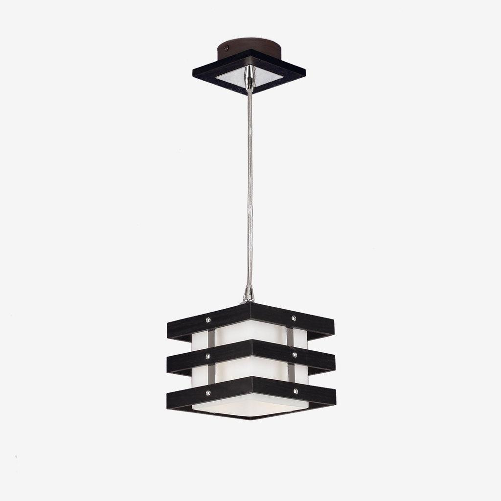Подвесной светильник Citilux Киото CL133111, 1xE14x60W, венге, хром, белый, дерево, металл, стекло - фото 1