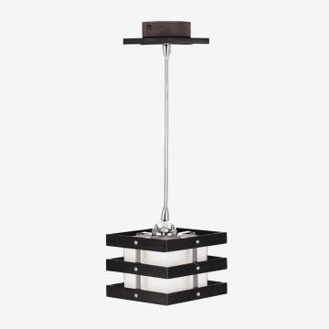 Подвесной светильник Citilux Киото CL133111, 1xE14x60W, венге, хром, белый, дерево, металл, стекло - миниатюра 2