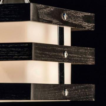 Подвесной светильник Citilux Киото CL133111, 1xE14x60W, венге, хром, белый, дерево, металл, стекло - миниатюра 3