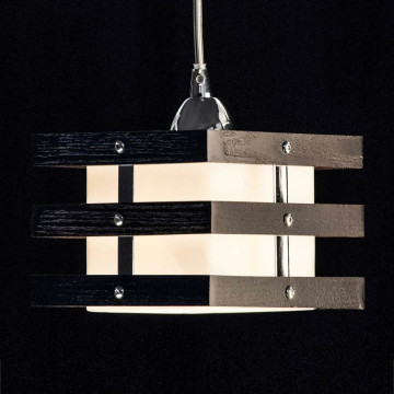 Подвесной светильник Citilux Киото CL133111, 1xE14x60W, венге, дерево, стекло - миниатюра 4