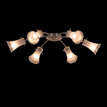 Потолочная люстра Citilux Дана CL106161, 6xE14x60W, матовый хром, белый, металл, стекло - миниатюра 2