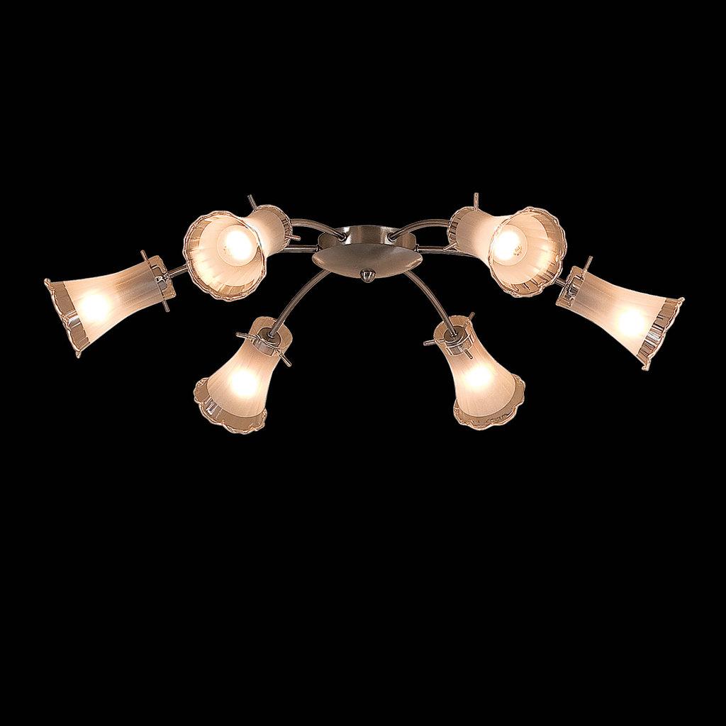 Потолочная люстра Citilux Дана CL106161, 6xE14x60W, матовый хром, белый, металл, стекло - фото 2