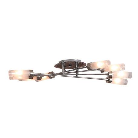 Потолочная люстра Citilux Хеликс CL109101, 10xE14x60W, матовый хром, белый, металл, стекло