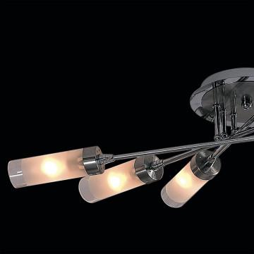 Потолочная люстра Citilux Хеликс CL109161, 6xE14x60W, матовый хром, белый, металл, стекло - миниатюра 4