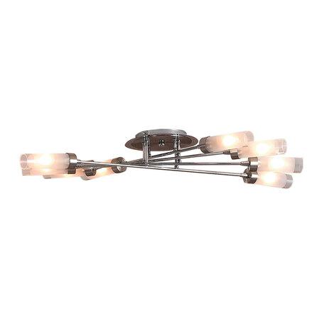 Потолочная люстра Citilux Хеликс CL109181, 8xE14x60W, матовый хром, белый, металл, стекло