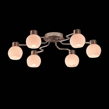 Потолочная люстра Citilux Отто CL121161, 6xE14x60W, хром, белый, металл, стекло - миниатюра 2
