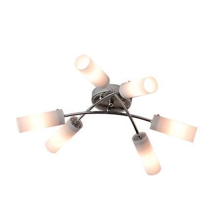 Потолочная люстра Citilux Новелла CL122161, 6xE14x60W, хром, белый, металл, стекло