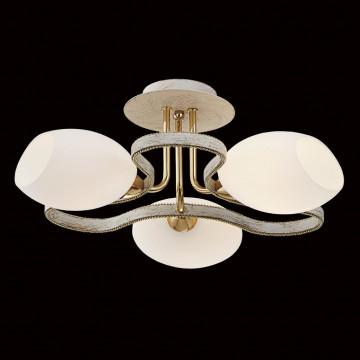 Потолочная люстра Citilux Октава CL131133, 3xE14x60W, белый с золотой патиной, белый, металл, стекло - миниатюра 2