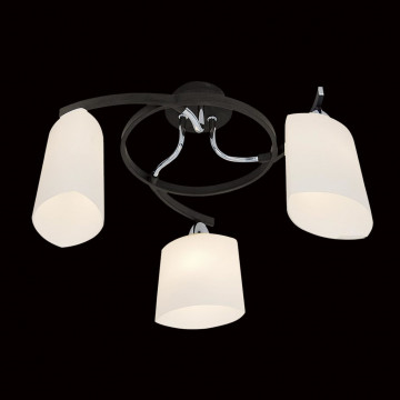 Потолочная люстра Citilux Тайфун CL136131, 3xE14x60W, венге, белый, металл, стекло - миниатюра 2