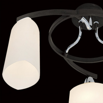 Потолочная люстра Citilux Тайфун CL136131, 3xE14x60W, венге, хром, белый, металл, стекло - миниатюра 4