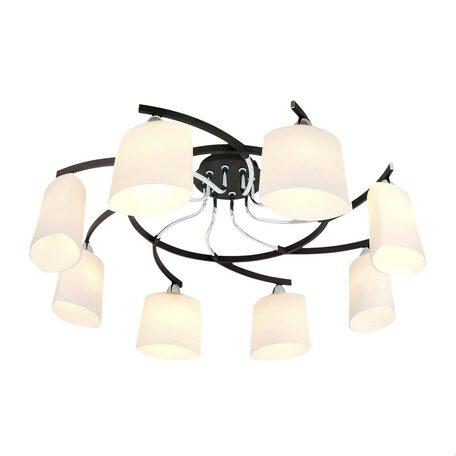 Потолочная люстра Citilux Тайфун CL136181, 8xE14x60W, венге, хром, белый, металл, стекло