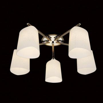Потолочная люстра Citilux Лора CL146151, 5xE27x75W, черный, белый, металл, стекло - миниатюра 2