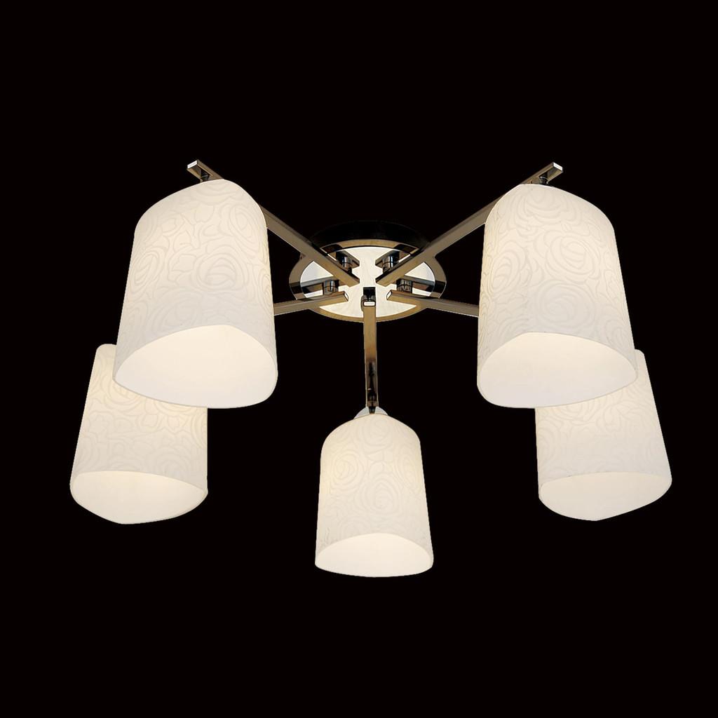 Потолочная люстра Citilux Лора CL146151, 5xE27x75W, черный, белый, металл, стекло - фото 2