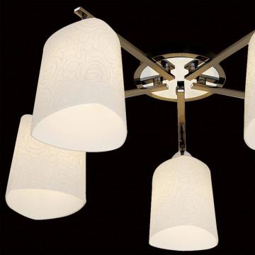 Потолочная люстра Citilux Лора CL146151, 5xE27x75W, черный, белый, металл, стекло - миниатюра 4