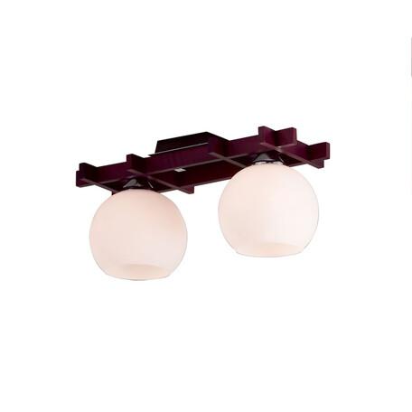 Потолочный светильник Citilux Нарита CL114121, 2xE27x100W, венге, белый, дерево, стекло - миниатюра 1