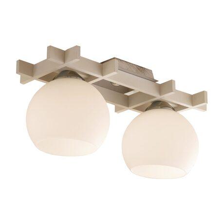 Потолочный светильник Citilux Нарита CL114122, 2xE27x100W, белый, дерево, стекло