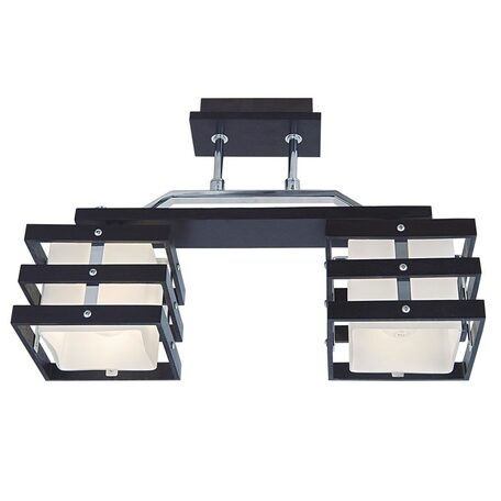 Потолочный светильник Citilux Киото CL133221, 2xE14x60W, венге, хром, белый, дерево, металл, стекло