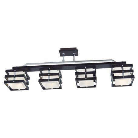 Потолочный светильник Citilux Киото CL133241, 4xE14x60W, венге, хром, белый, дерево, металл, стекло