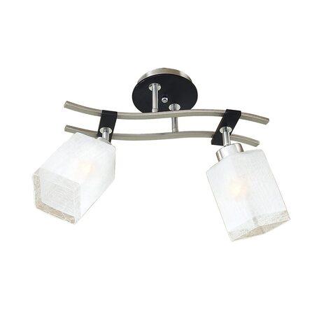Потолочный светильник с регулировкой направления света Citilux Мерида CL142121, 2xE27x75W, венге, матовый хром, белый, дерево, металл, стекло