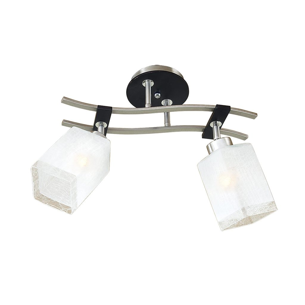 Потолочный светильник с регулировкой направления света Citilux Мерида CL142121, 2xE27x75W, венге, белый, дерево, металл, стекло - фото 1