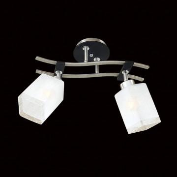 Потолочный светильник с регулировкой направления света Citilux Мерида CL142121, 2xE27x75W, венге, белый, дерево, металл, стекло - миниатюра 2