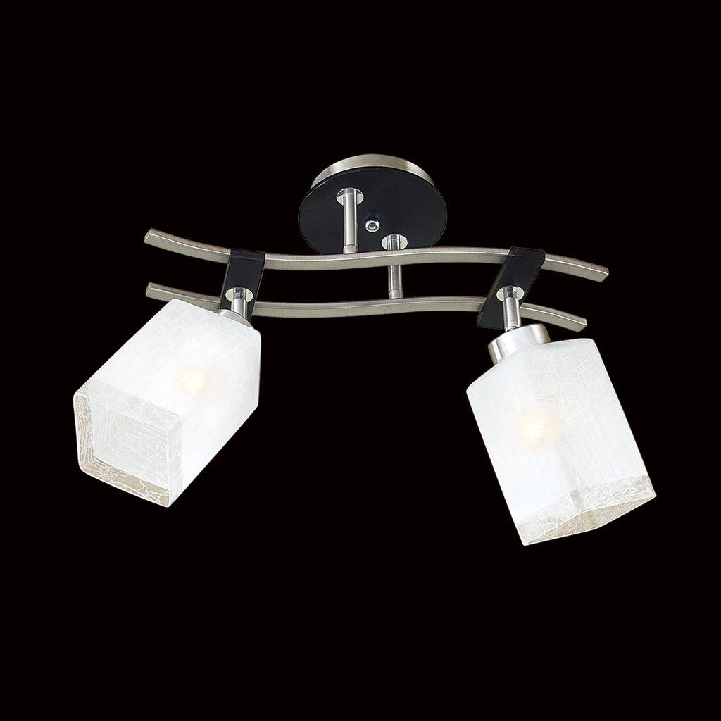 Потолочный светильник с регулировкой направления света Citilux Мерида CL142121, 2xE27x75W, венге, белый, дерево, металл, стекло - фото 2