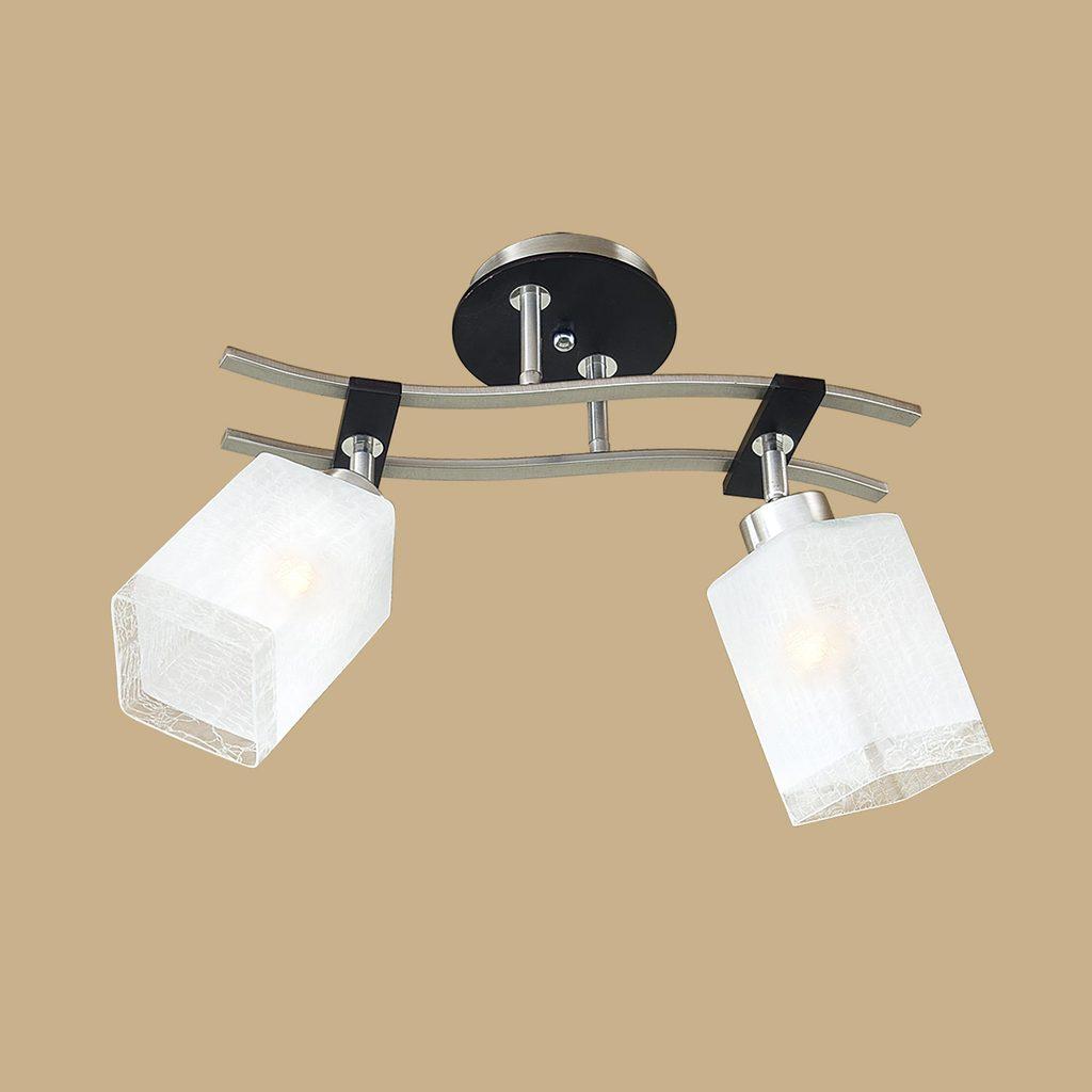 Потолочный светильник с регулировкой направления света Citilux Мерида CL142121, 2xE27x75W, венге, белый, дерево, металл, стекло - фото 3