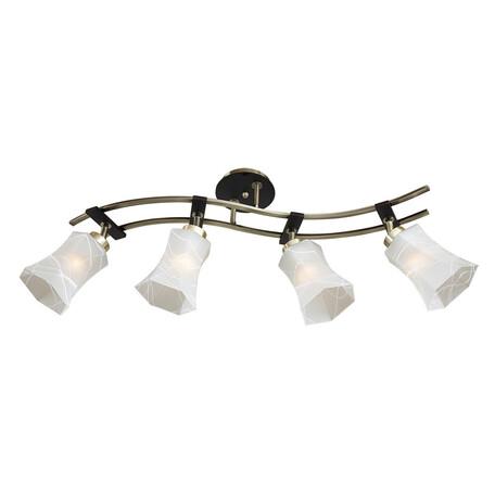 Потолочный светильник с регулировкой направления света Citilux Мерида CL142143, 4xE27x75W, венге, белый, дерево, металл, стекло
