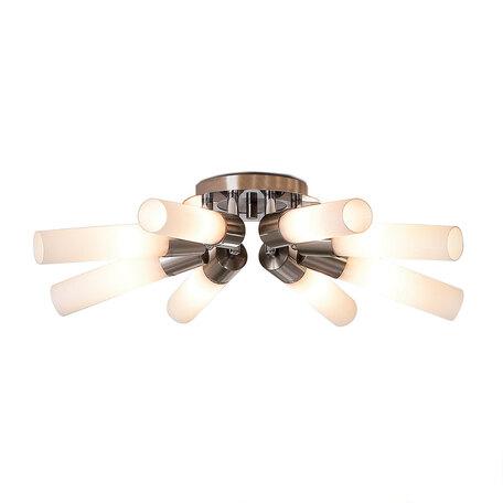 Потолочная люстра с регулировкой направления света Citilux Компакто CL101181, 8xE14x60W, матовый хром, белый, металл, стекло