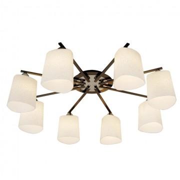 Потолочная люстра Citilux Лора CL146181, 8xE27x75W, хром, черный, белый, металл, стекло