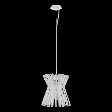 Подвесной светильник Eglo Locubin 97949, 1xE27x40W, белый, металл