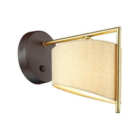 Бра Lumion Neoclassi Karen 3750/1W, 1xE14x40W, коричневый, матовое золото, бежевый, металл, текстиль