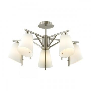 Потолочная люстра Lumion 3751/5C, никель, белый, металл, стекло