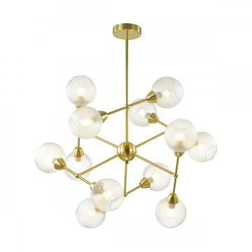 Потолочная люстра Lumion 3752/12C, золото, прозрачный, металл, стекло