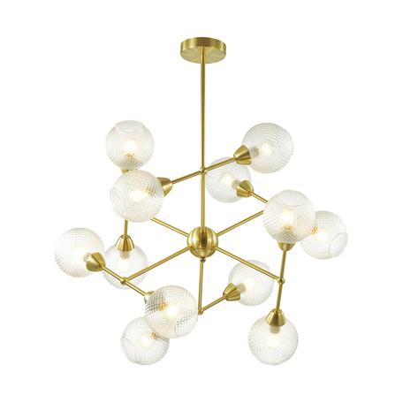 Потолочная люстра Lumion Everly 3752/12C, 12xE14x40W, золото, прозрачный, металл, стекло