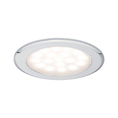 Встраиваемый мебельный светодиодный светильник Paulmann Mirror Cabinet downlight 99920, LED 2,5W, хром, металл