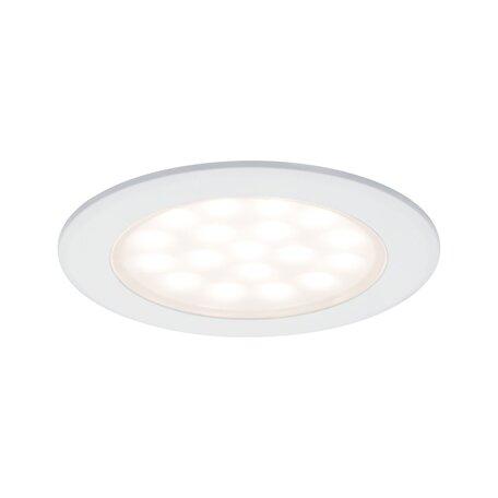 Встраиваемый мебельный светодиодный светильник Paulmann Mirror Cabinet downlight 99921, LED 2,5W, белый, металл