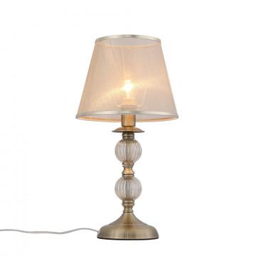 Настольная лампа Evoluce Grazia SL185.304.01, 1xE14x40W, бронза, прозрачный, бежевый, стекло, пластик