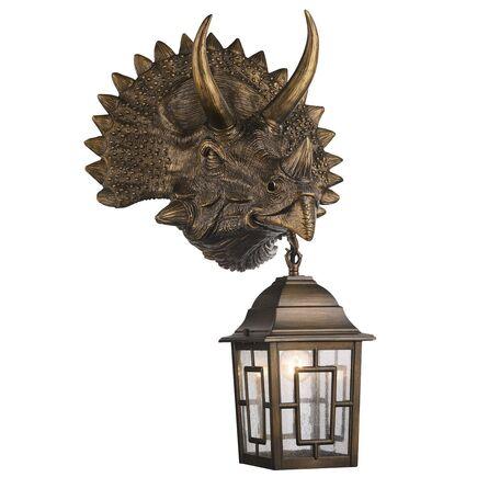 Настенный фонарь Favourite Hunt 2251-1W, IP44, 1xE27x60W, коричневый, прозрачный, гипс, металл, ковка, металл со стеклом