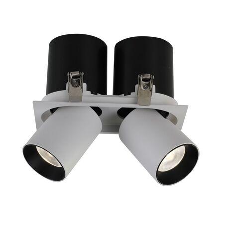 Встраиваемый светодиодный светильник с регулировкой направления света Favourite Finis 2226-2U, LED 24W 4000K, белый, черно-белый, металл