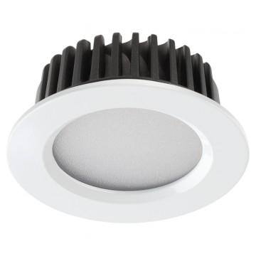 Встраиваемая светодиодная панель Novotech 357907, IP44, белый, металл, пластик