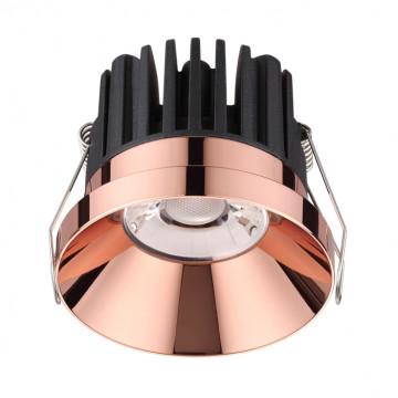 Встраиваемый светодиодный светильник Novotech Spot Metis 357910, IP44, LED 10W 3000K 800lm, медь, металл