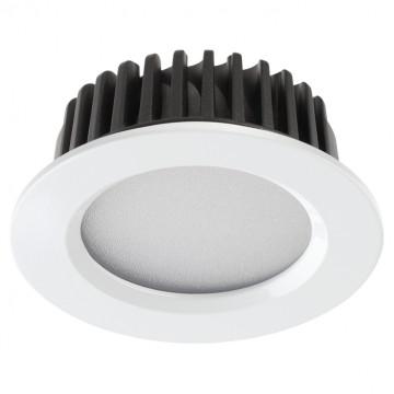 Встраиваемая светодиодная панель Novotech Spot Drum 357907, IP44, LED 10W 4000K 700lm, белый, металл с пластиком, пластик