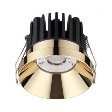 Встраиваемый светодиодный светильник Novotech Metis 357909, IP44 3000K (теплый), золото, металл