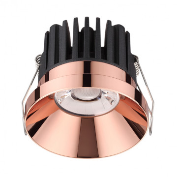 Встраиваемый светодиодный светильник Novotech Metis 357910, IP44, LED 10W 3000K 800lm, медь, металл